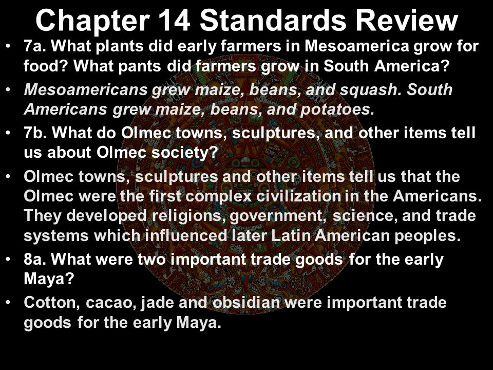 Chapter 14 Standards Review