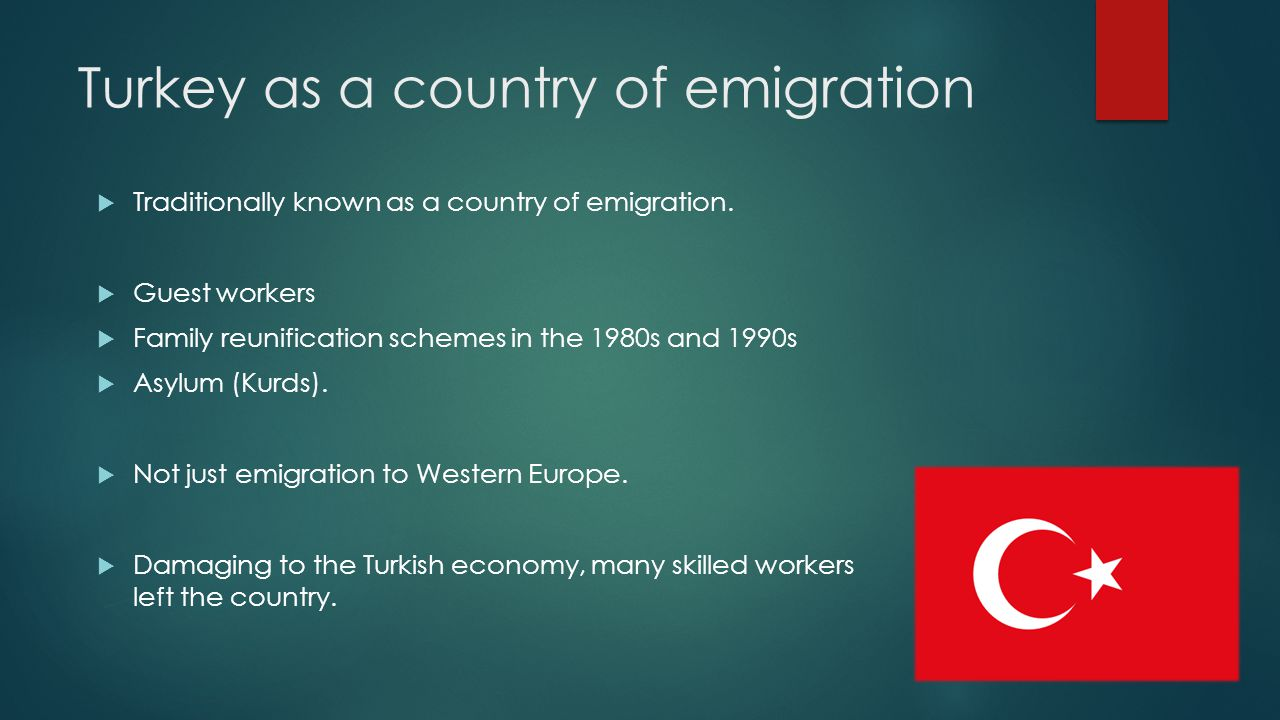 Turkey as a country of emigration