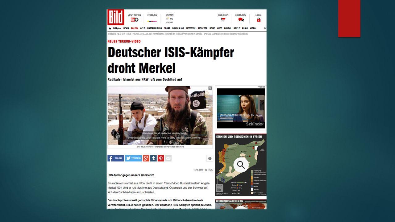 Ali ISIS-Terror gegen unsere Kanzlerin!