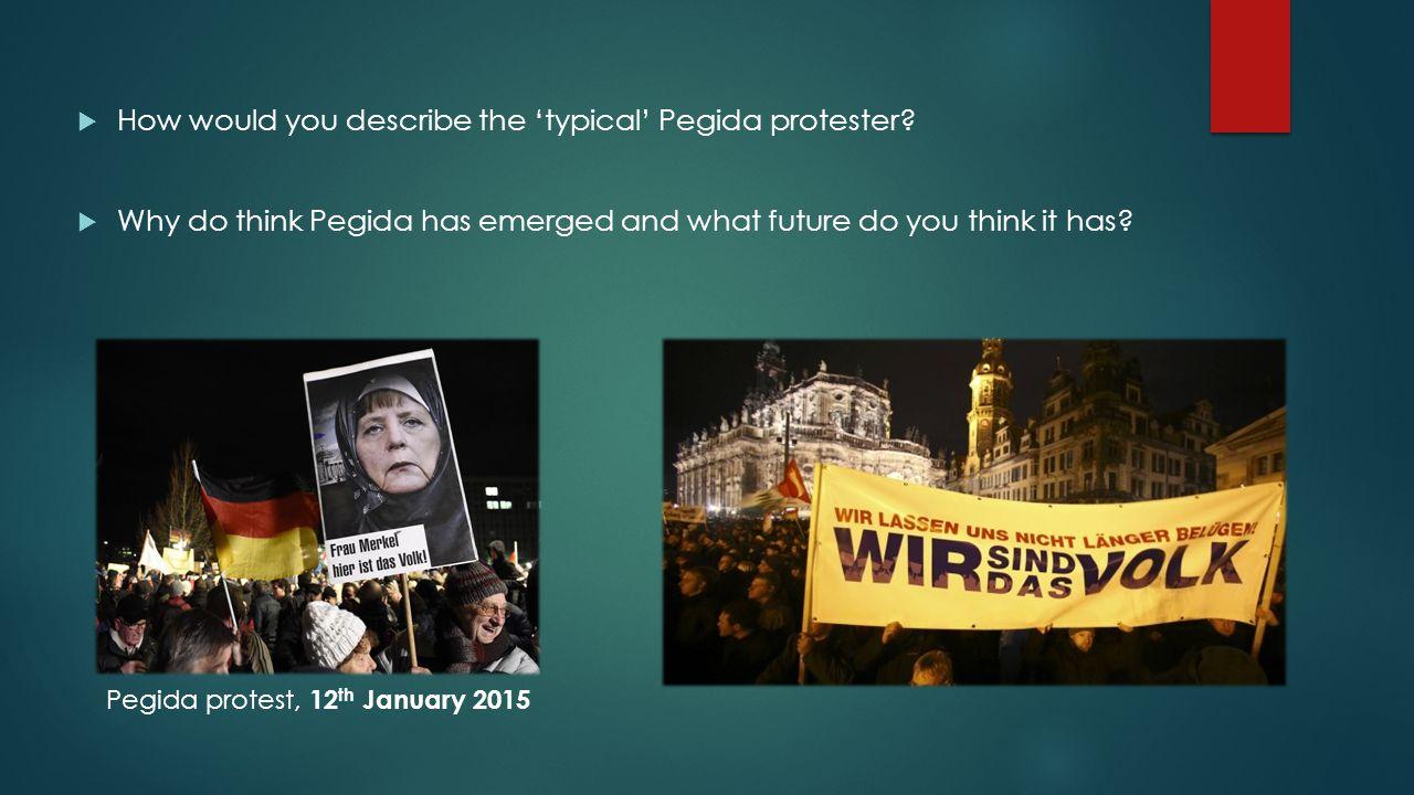 Pegida protest, 12th January 2015