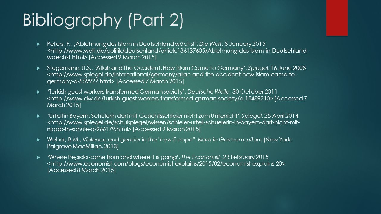 Bibliography (Part 2)