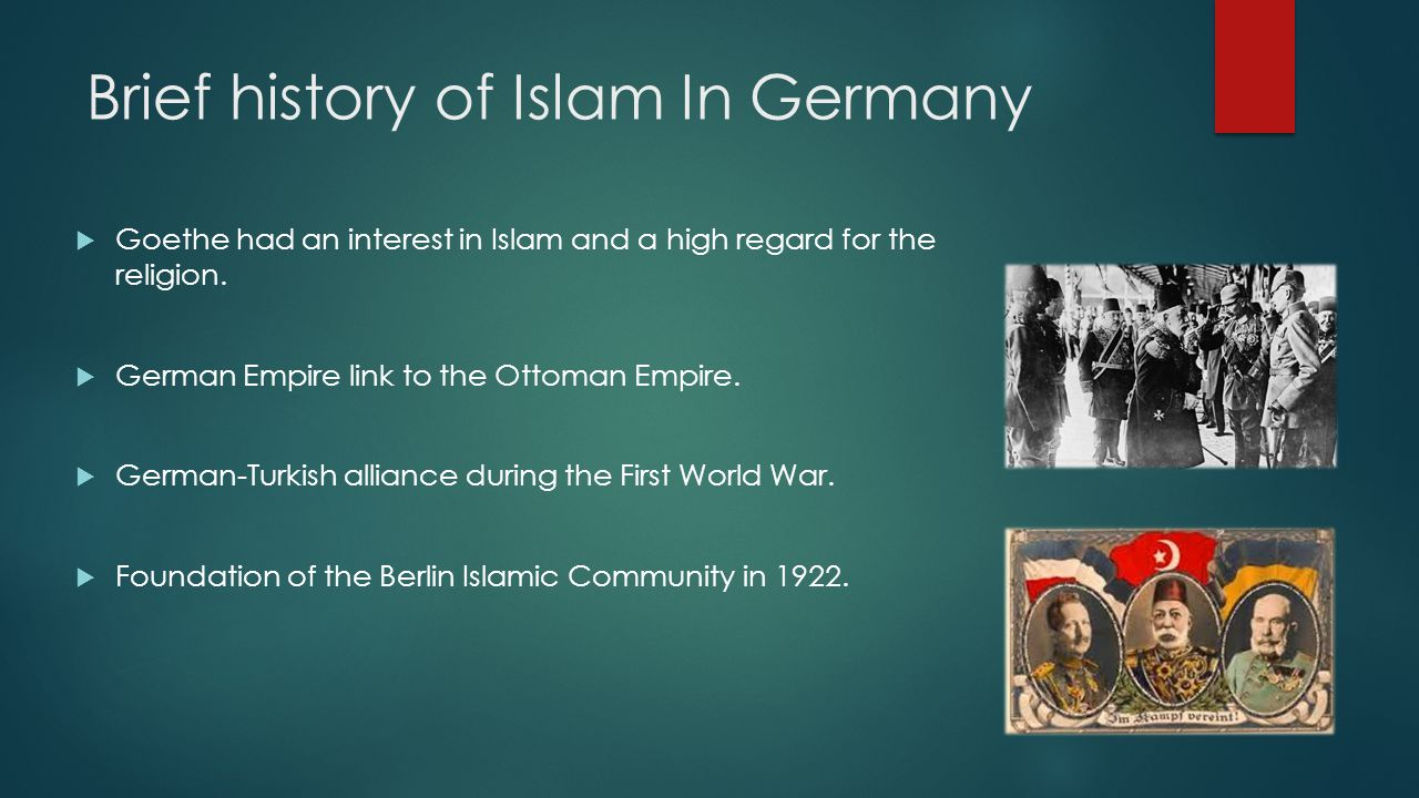 Brief history of Islam In Germany