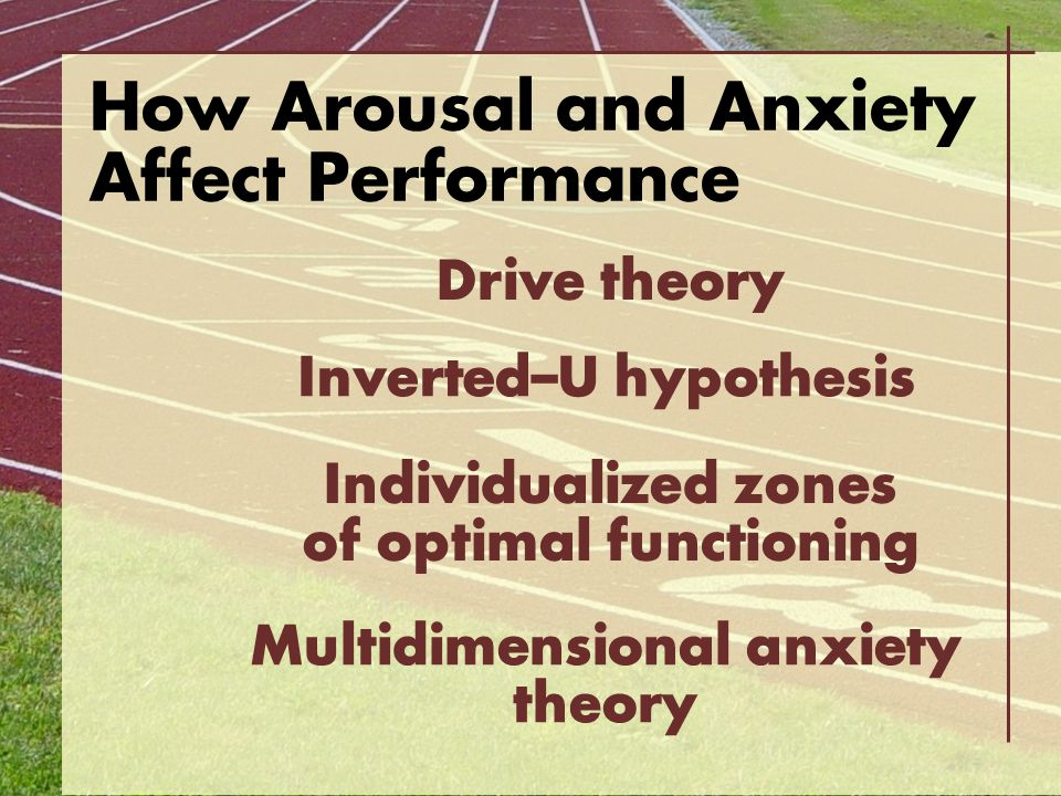 How Arousal and Anxiety Affect Performance
