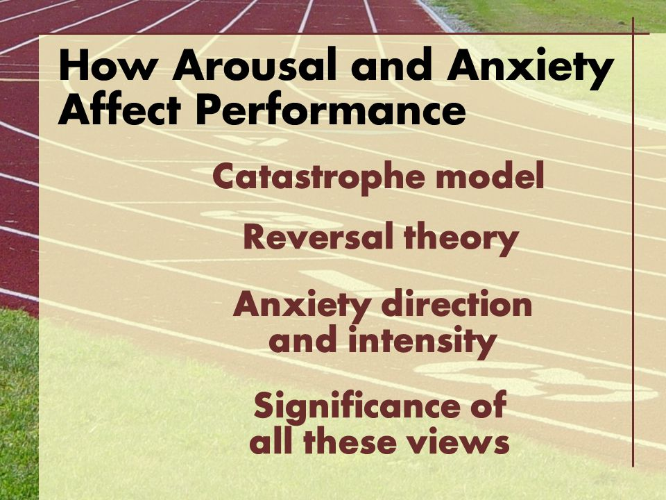 Anxiety direction and intensity Significance of all these views