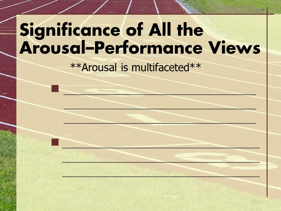 Significance of All the Arousal–Performance Views