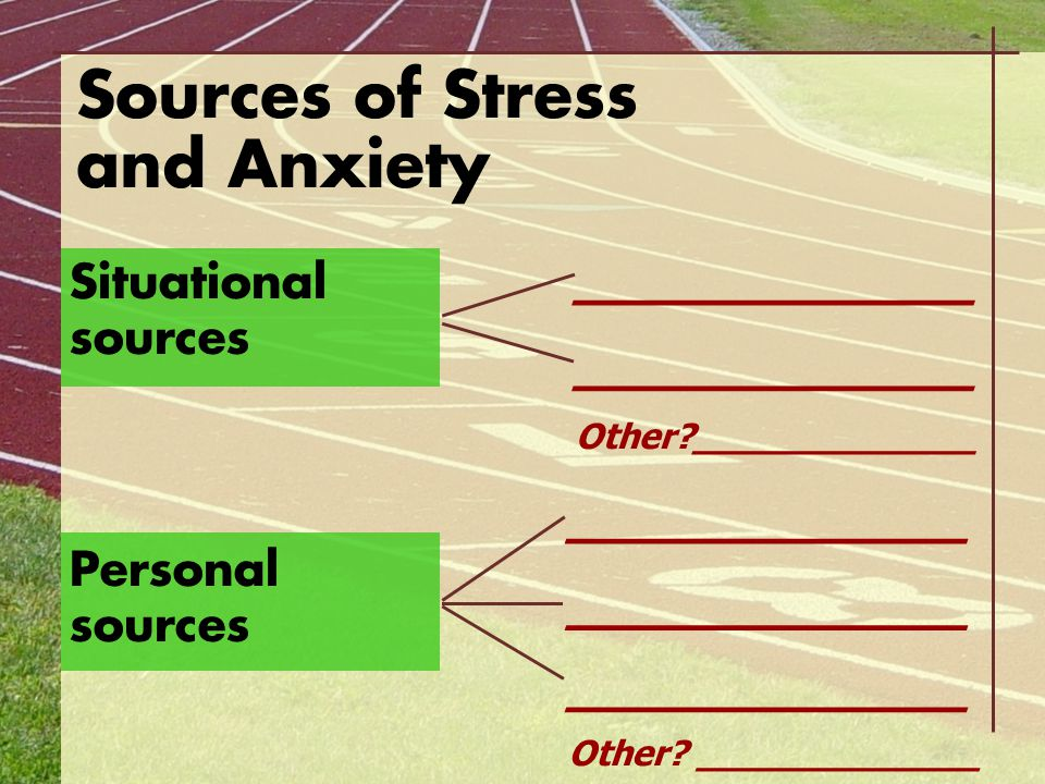 Sources of Stress and Anxiety
