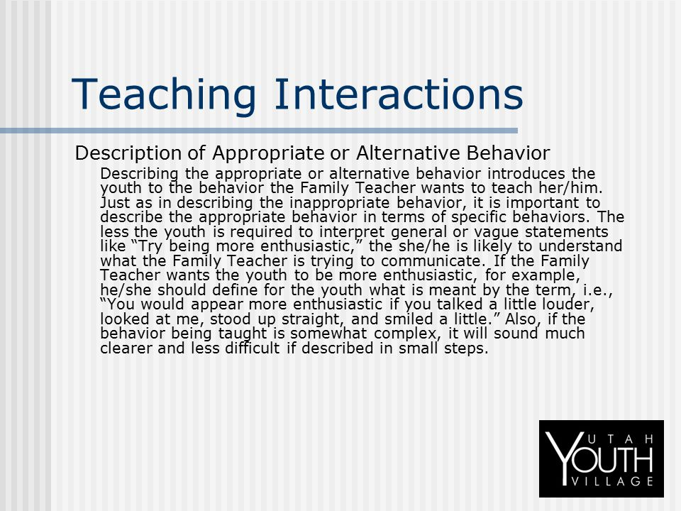 Teaching Interactions