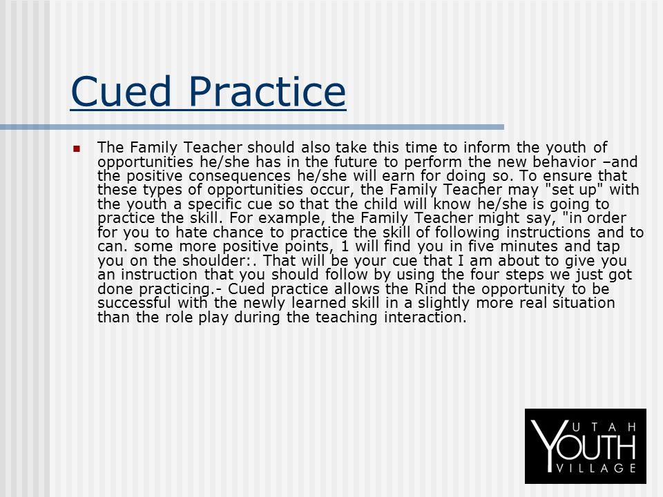 Cued Practice