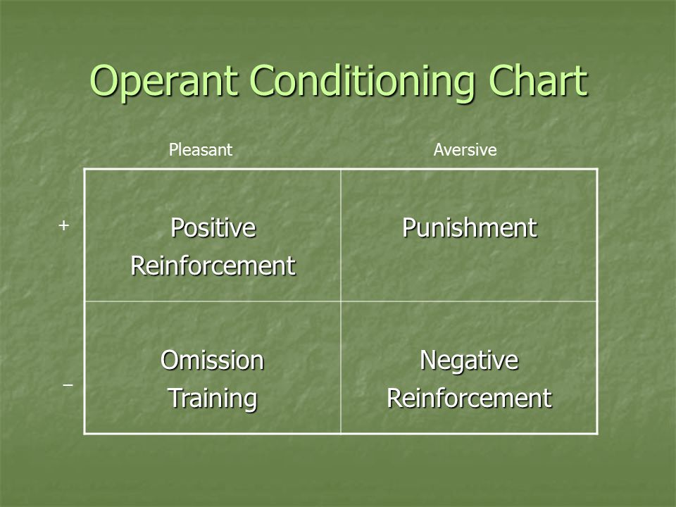 Operant Conditioning Chart