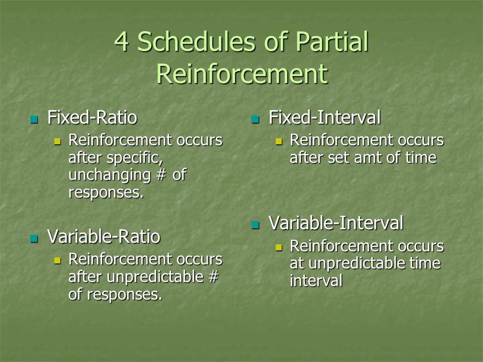 4 Schedules of Partial Reinforcement