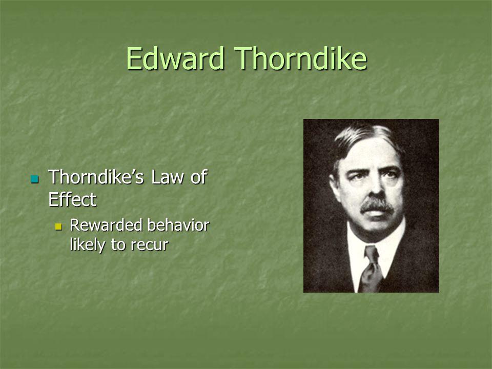 Edward Thorndike Thorndike's Law of Effect