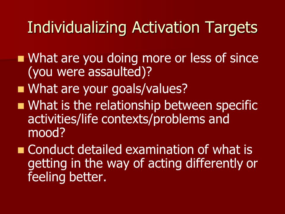 Individualizing Activation Targets