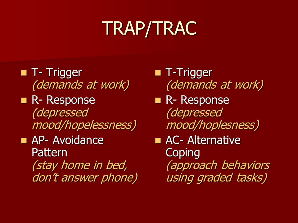TRAP/TRAC T- Trigger (demands at work)