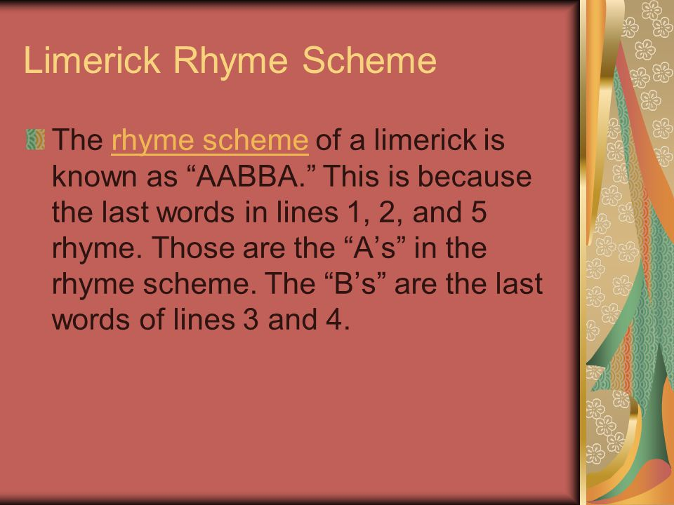 Limerick Rhyme Scheme