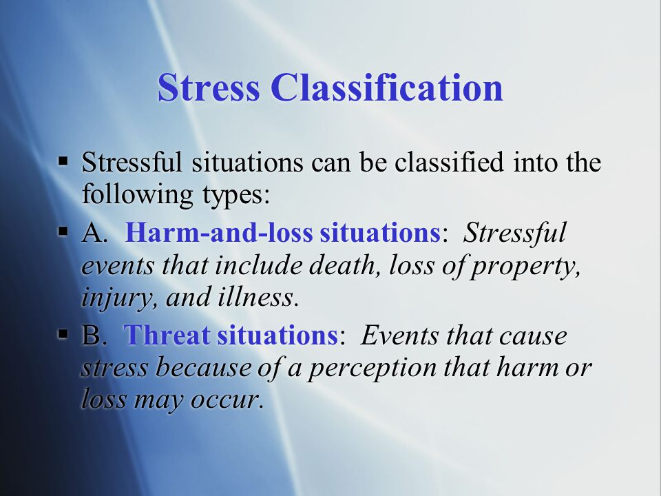 Stress Classification