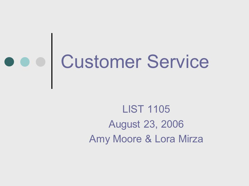 LIST 1105 August 23, 2006 Amy Moore & Lora Mirza