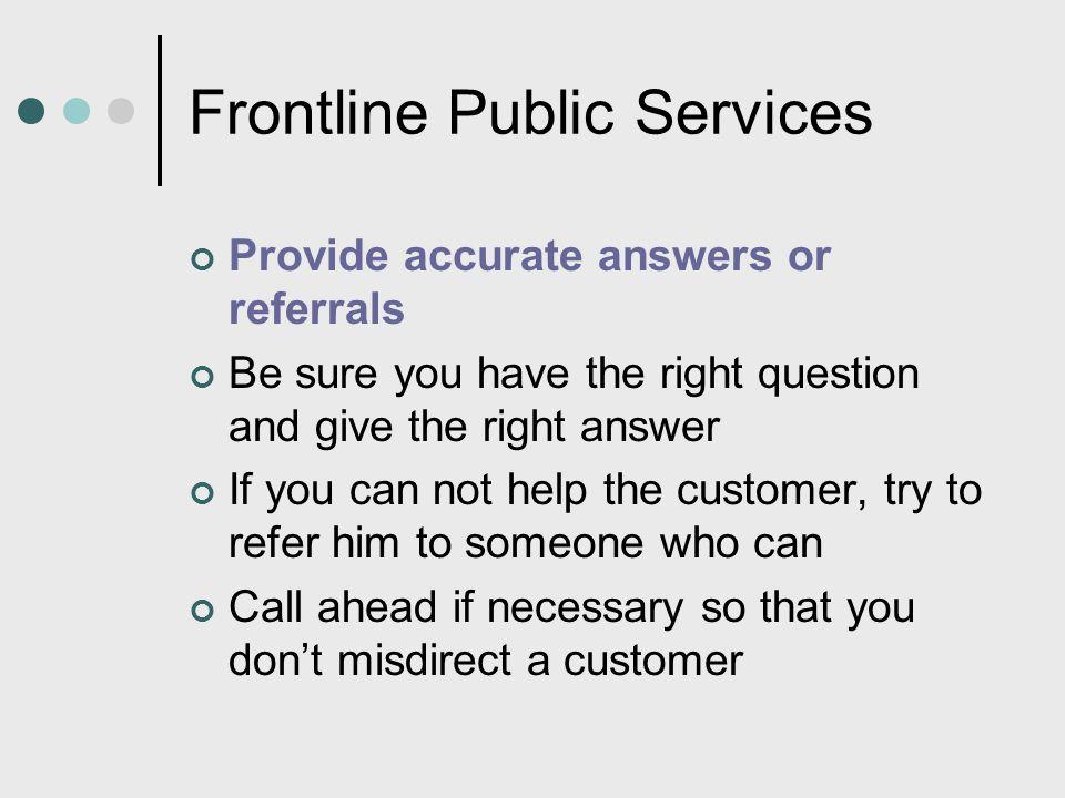 Frontline Public Services