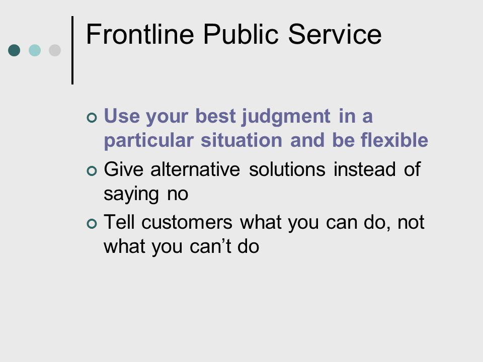 Frontline Public Service