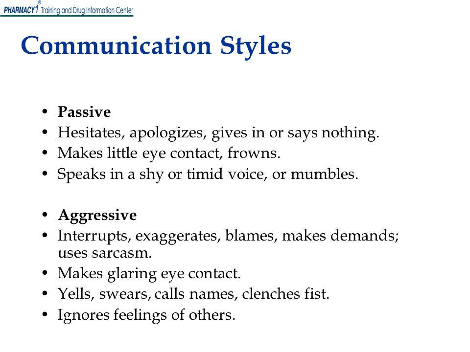 Communication Styles Passive