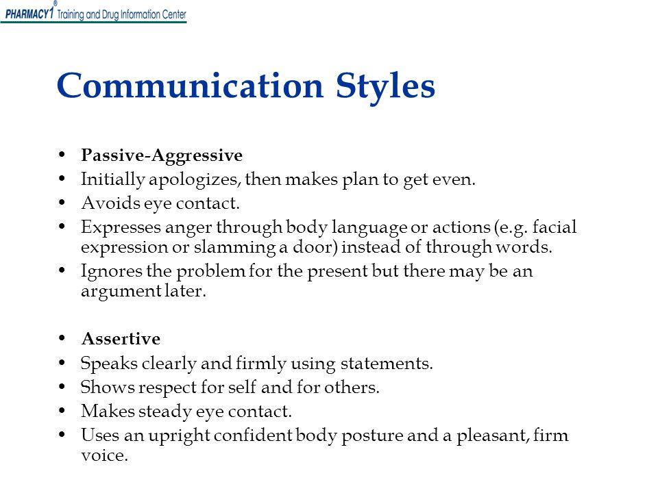 Communication Styles Passive-Aggressive