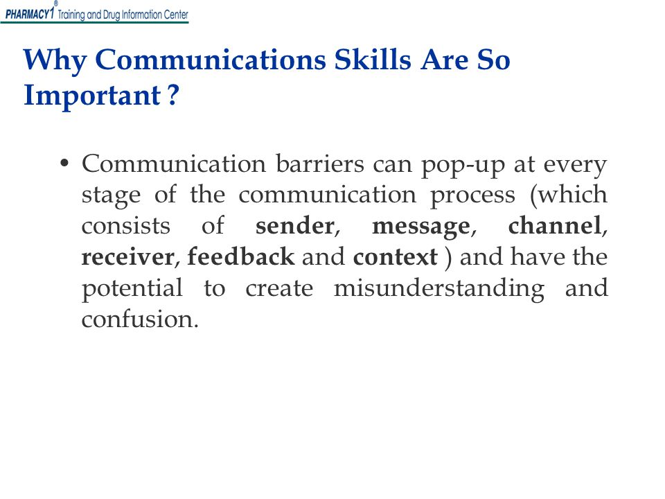 Why Communications Skills Are So Important