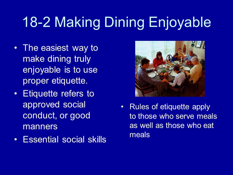 18-2 Making Dining Enjoyable