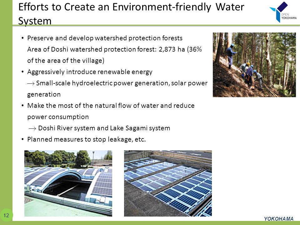 Efforts to Create an Environment-friendly Water System