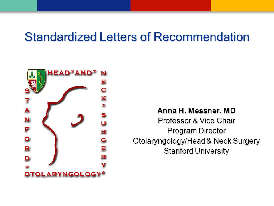 Standardized Letters of Recommendation