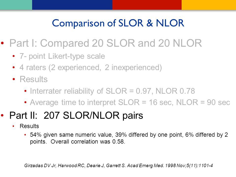 Comparison of SLOR & NLOR