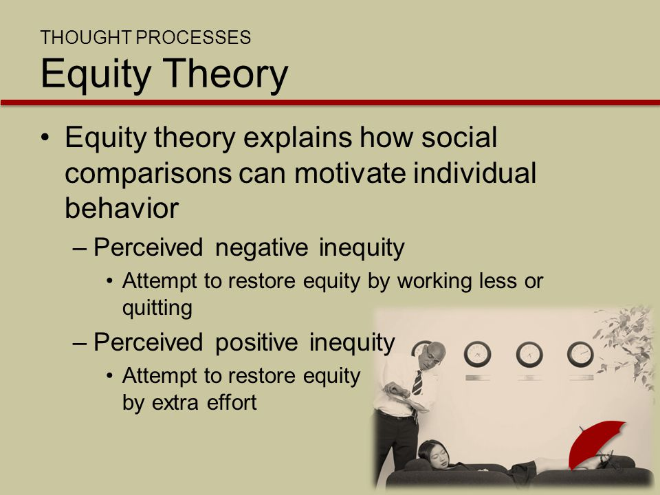 THOUGHT PROCESSES Equity Theory