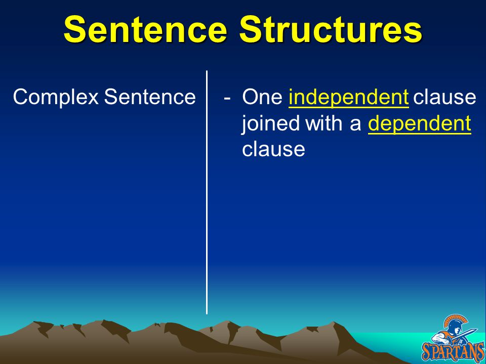 Sentence Structures Complex Sentence