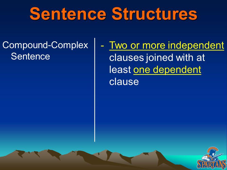 Sentence Structures Compound-Complex Sentence.