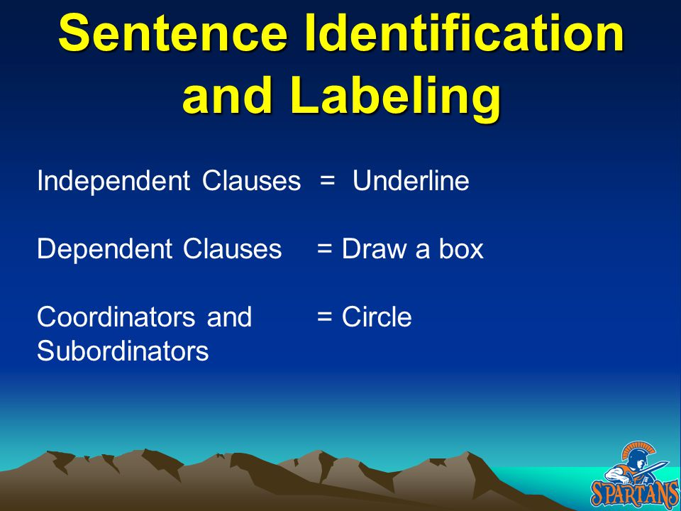 Sentence Identification and Labeling