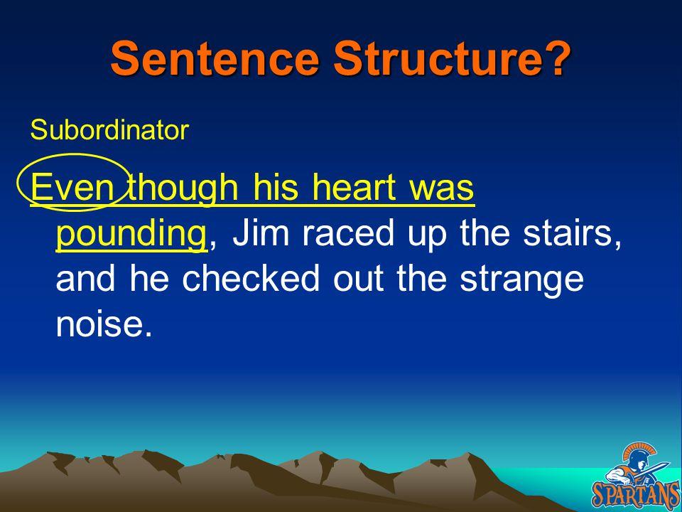 Sentence Structure. Subordinator.