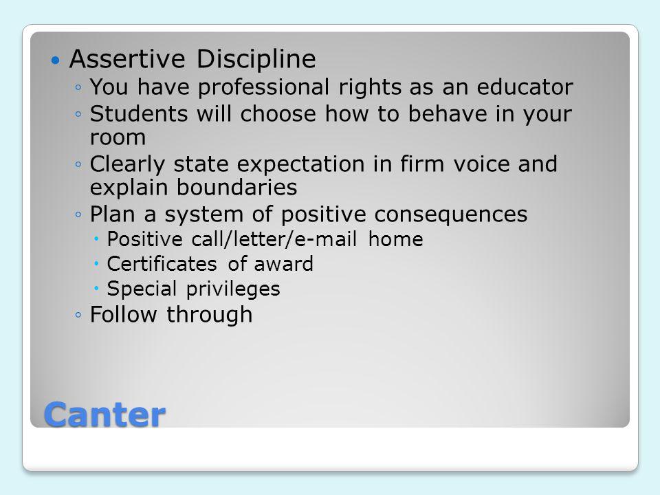 Canter Assertive Discipline