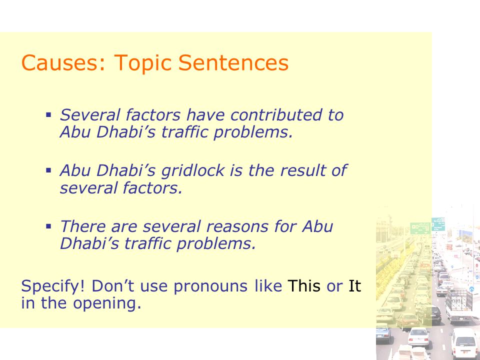 Cause and effect essay ppt