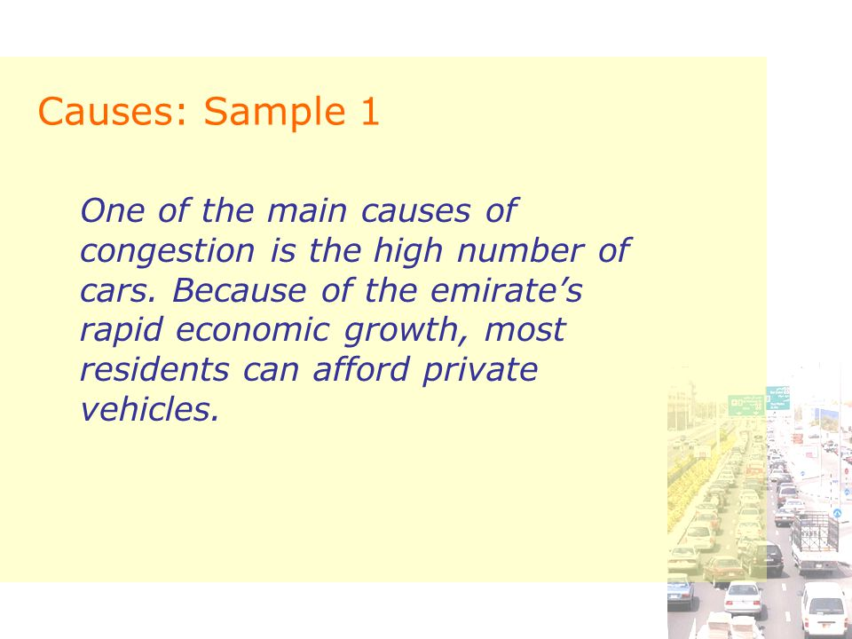Causes: Sample 1