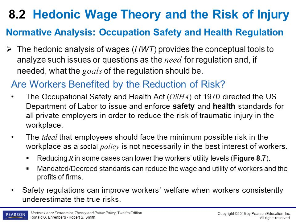 8.2 Hedonic Wage Theory and the Risk of Injury