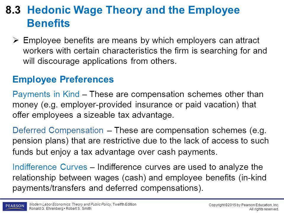 8.3 Hedonic Wage Theory and the Employee Benefits
