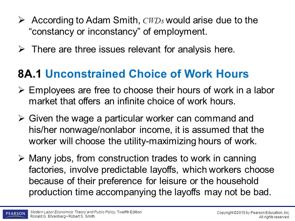 8A.1 Unconstrained Choice of Work Hours