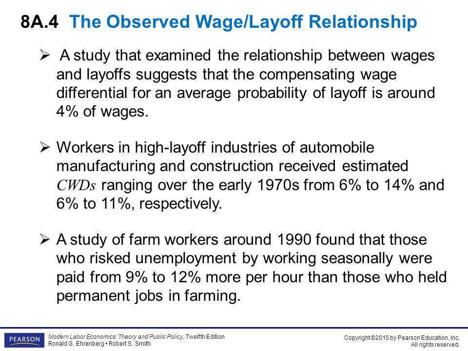8A.4 The Observed Wage/Layoff Relationship
