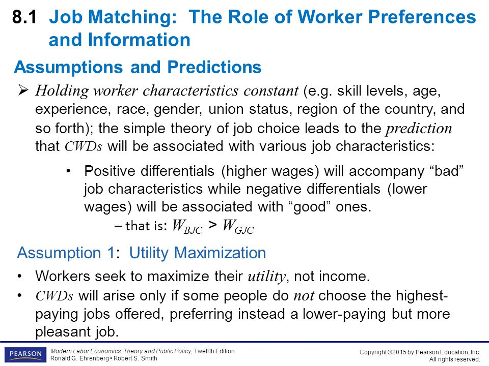 8.1 Job Matching: The Role of Worker Preferences and Information