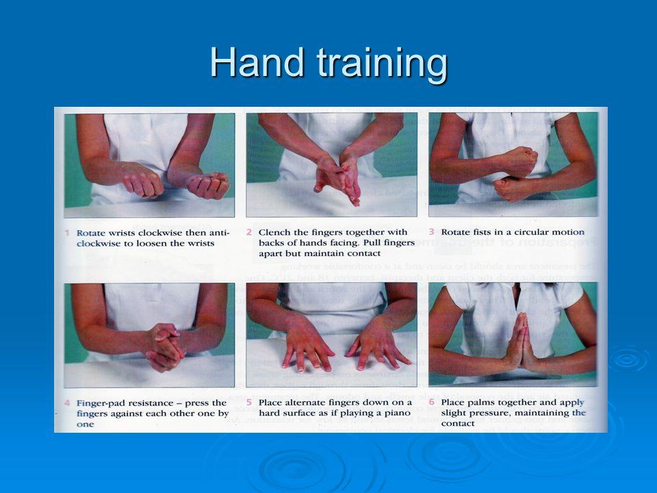 Hand training