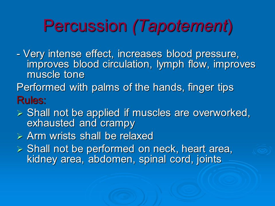 Percussion (Tapotement)