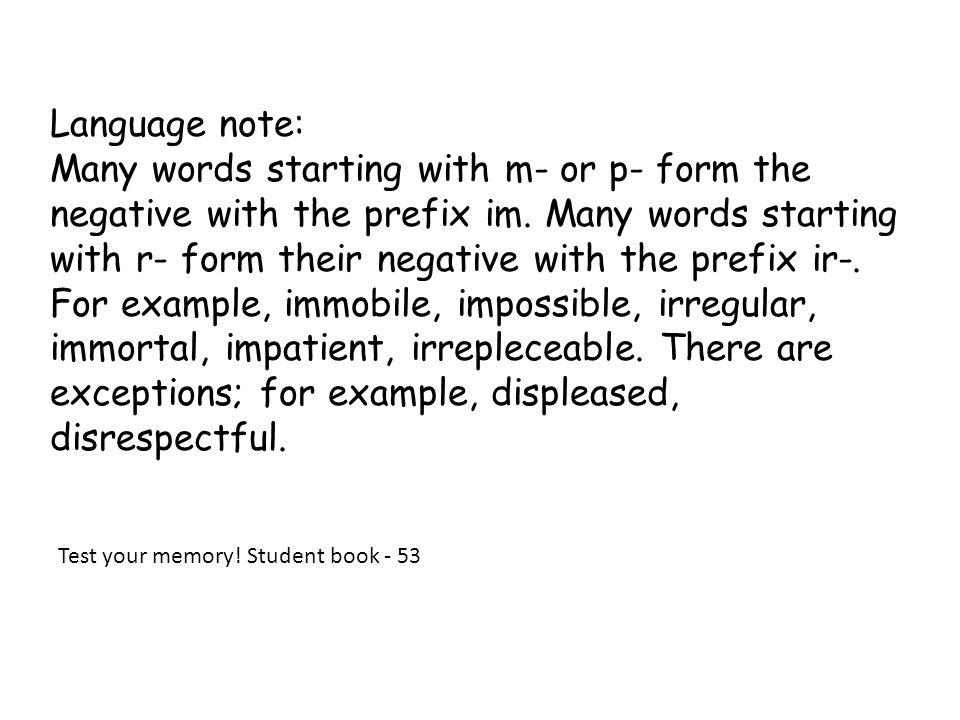 Language note: