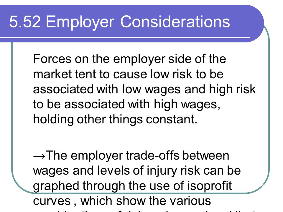 5.52 Employer Considerations