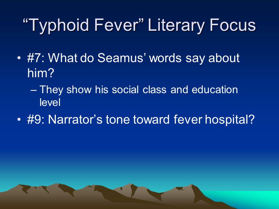 Typhoid Fever Literary Focus