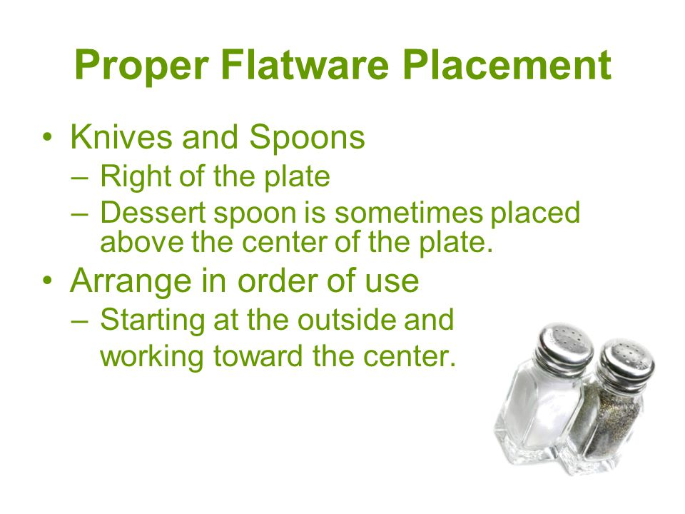 Proper Flatware Placement