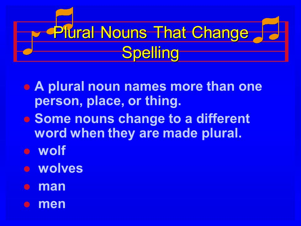 Plural Nouns That Change Spelling