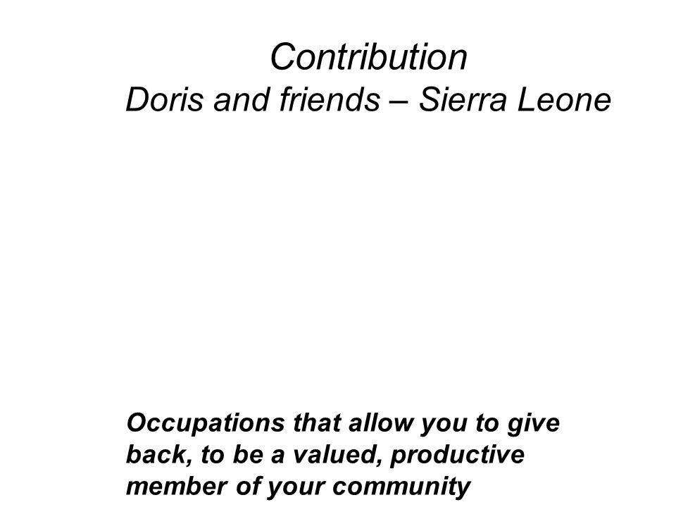 Contribution Doris and friends – Sierra Leone